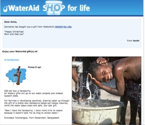 WaterAid at Christmas