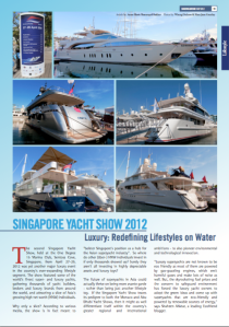 Singapore International Yacht Week 2012